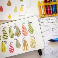 Working on my new shop identity, Striped Pear Studio, coming soon! Oh, so many…