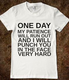 Hmmm, who shall I wear this shirt around!?!