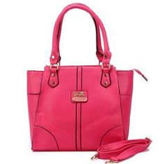 Coach Logo Medium Fuchsia Satchels BJF
