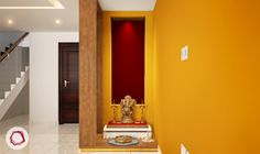 Recessed Wall Niche Ideas For Modern Indian Homes Pooja Room Design, Wall Niche, Room Design, Pooja Rooms, Prayer Room, Indian Homes, Room Door Design, Pooja Room Door Design, Indian Home