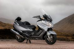 The 2013 Suzuki Burgman 650 ABS Executive on the bike's launch in Scotland