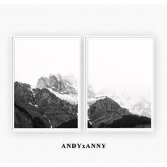Mountain Printable Art, Black And White Prints, Poster Set of 2, Wall... (€8,45) ❤ liked on Polyvore featuring home, home decor, wall art, black white wall art, mountain poster, landscape wall art, mountain wall art and black white home decor