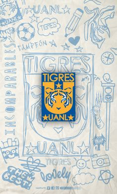 @CLUB TIGRES • LigraficaMX 291213CTG(3) Soccer Art, Tiger Art, Soccer World, Photos Tumblr, Pumas, Slogan, Iphone Wallpaper, Lego Batman, Stickers