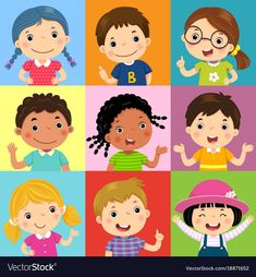 Find Vector Illustration Set Different Kids Various stock images in HD and millions of other royalty-free stock photos, illustrations and vectors in the Shutterstock collection. Thousands of new, high-quality pictures added every day. School Murals, School Clipart, Kid Character, Painting For Kids, Free Vector Art, Girl Cartoon, Cartoon Drawings, Cute Art, Illustration Art