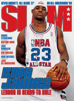 SLAM High School All-American LeBron James appeared on the cover of the issue of SLAM Magazine Slam Magazine, Sports Magazine, Magazine Covers, Magazine Rack, Basketball Pictures, Sports Pictures, Family Pictures, Nba Players, Basketball Players