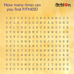 Time to tweak you brain! Tell us how many times can you find FITNESS in the crossword? Tell us..