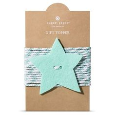 Sugar Paper Mint Star Tie On Gift Topper