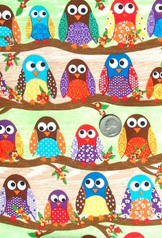 Here is your custom order Sue:    1 yard owl fabric ( $ 9.00)  2 yards Poppy newsprint ( 18.00)  1 yard cupcake fabric ( 9.25)  Childrens quilt panel (