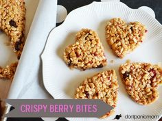 Crispy Berry Bites   Perfect for Valentine's Day snacks or lunch box   Don't Panic Mom