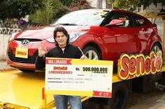 #Tbt Hugo Ramón Gavilán de la ciudad de Lambaré, millonario N° 117 se había ganado en el sorteo de aquel 06/04/2014 el mayor de los pozos, nada más y nada menos que Gs. 500.000.000 y un imponente automóvil Hyundai Veloster 0km valuado en más de US$ 30.000 en aquel tiempo.   ¡Un número le cambió todo Hugo!