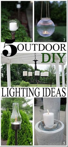 5 Outdoor DIY Lighting Ideas for Your Porch, Deck, Table, Pool, or Yard. | In My Own Style blog