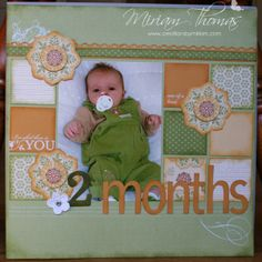 scrapbooking baby layouts | Scrapbooking layout of baby | Scrapbooking
