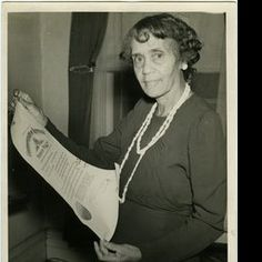 "Elizabeth Beatrice Cooke Fouse(member of Zeta Phi Beta); written on back ""Sept - 1944 // Mrs W.H. Fouse holding the appointment from Gov Simeon Willis as member of Commission for the study of Negro Affairs // 1st on record of its kind,"" - ExploreUK"