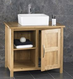 Bathroom Sink And Cabinets alto solid oak wooden cabinet sink washbasin bathroom sink vanity