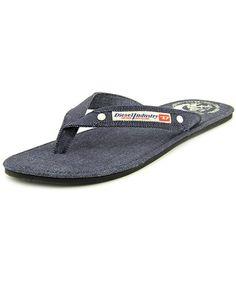 fcdca141102a85 DIESEL Diesel Seaside Men Open Toe Canvas Blue Flip Flop Sandal .  diesel   shoes  sandals