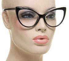 Details about Retro Square Eyeglasses Clear Lens Black ...