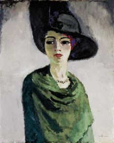 Lady in a Black Hat by Kees van Dongen, 1908 (Hermitage Museum, St.Petersburg). A collective image of a femme fatale.
