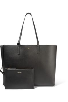 Black textured-leather (Calf)  Snap-fastening tab at open top Comes with dust bag Weighs approximately 2.4lbs/ 1.1kg Made in Italy