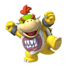 is a character that has appeared in plenty of Mario games, with his first appearance being Super Mario Sunshine. He is the only child of Bowser, as the Koopalings are not considered his actual children. Super Smash Bros, New Super Mario Bros, Super Mario Brothers, Super Mario Kunst, Super Mario Art, Super Mario Birthday, Mario Birthday Party, Batman Birthday, Bowser Mario