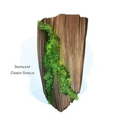 Ironleaf Oaken Shield Armor (shield), uncommon (requires attunement by a druid) ___ This reinforced wooden shield is covered… Dungeons And Dragons Homebrew, D&d Dungeons And Dragons, Dnd Druid, Dnd 5e Homebrew, Dnd Art, Weapon Concept Art, High Fantasy, Tabletop Rpg, Fantasy Weapons