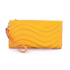 Korean Style Candy Colors Raised Grain Lady Wallet