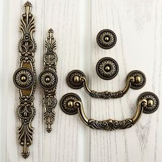 French Chic Handle Pull Pulls Handles With Back Plate Antique Bronze Kitchen Cabinet S Furniture Hardware Wm495