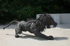 Sculptures from recycled tires, by Yong Ho Ji