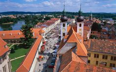 Telč, Czech Republic Residents of Telč, a small town in south Moravia, were once quite competitive about the beauty of their homes, as is evident today on the elongated main square.