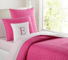 Branson Reversible Quilted Bedding #pbkids