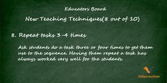 New Teaching Techniques Tips (tip 8)