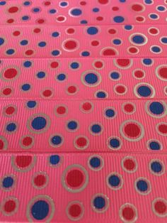 Beautiful Superb Quality  1  25mm  Blue Red by ribboneriexpress