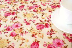 """Купить Скатерть водоотталкивающая """"Цветы"""" - комбинированный, скатерть, водоотталкивающая ткань, Скатерть купить"""