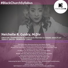 Neichelle R. Guidry shares her reading list for the United Church Of Christ, Zora Neale Hurston, Black Church, Reading Lists, Confessions, The Creator, Pastor