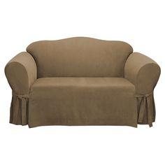 Easy Fit Microsuede Sofa Slipcover