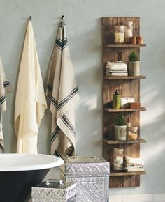 Bathroom Storage Solutions   (vivaterra?) link to DIY version...