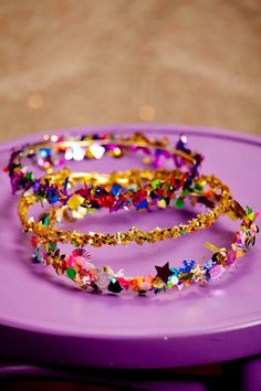 (diy confetti crowns).