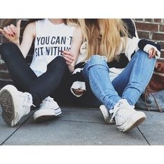 """I don't like that shirt I saw a girl with a """"your can sit with us"""" shirt and I am like dying to own it!!!! You can so sit with us!!!! Ever day all day party"""