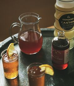 This month we're sharing some of our favorite summer cocktail recipes from Jill of A Better Happier St. Sebastian! Ginger Rose + Black Tea Cocktail makes 1 drink 1 oz rose simple syrup 2 oz ginger liqueur 4 oz double concentrate black tea sparkling water to top lemon wedges for serving In a cocktail shaker