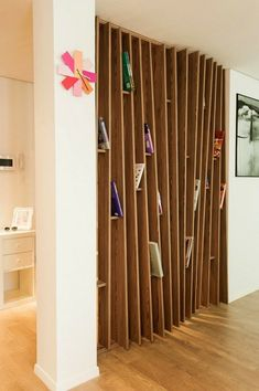 Partitions wooden entrance wooden boards books safari laminate