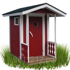 """Туалет дачный """"Скворечник-LUX"""" 2,20х1,20м деревянный - Игрушки на опушке - Дачные конструкции из дерева в Санкт-Петербурге"""
