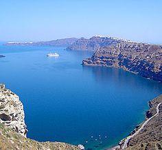 Santorini, Greece - View from Akrotiri