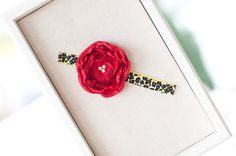 Etsy.com: Red and Leopard- flower headband, $9.95