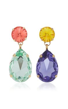 Hip-Hop But Not Mismatched Swarovski Crystal Clip Earrings by ROXANNE ASSOULIN Now Available on Moda Operandi