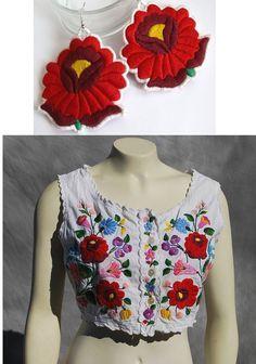 Hugarian Kalocsai folk earrings fcd2065cd5
