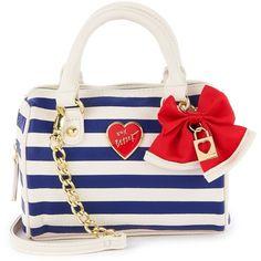 Printed Mini Satchel (2135 RSD) found on Polyvore featuring bags, handbags, purses, mini purse, mini crossbody purse, white purse, crossbody satchel and mini cross body purse
