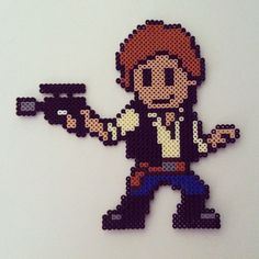 Han Solo - Star Wars hama perler beads by color_shock