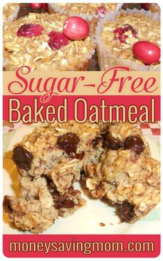 This Sugar-Free Baked Oatmeal Cupcakes are economical, versatile, freezable, portion controlled, and downright delicious! Diabetic Recipes, Real Food Recipes, Cooking Recipes, Diabetic Foods, Keto Recipes, Oreo Dessert, Freezer Cooking, Freezer Meals, Freezer Recipes