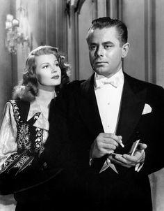 Rita Hayworth and Glenn Ford in Gilda, 1946.