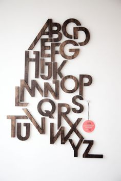 Hmm…I like…still mulling over which alphabet series to put up in the kids room…