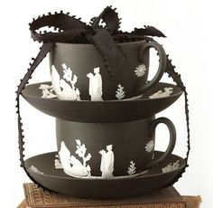 Black Jasperware Wedgwood... Want to collect this stuff